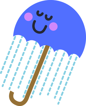 This cute umbrella will be fun an adorable toddlers shirt.