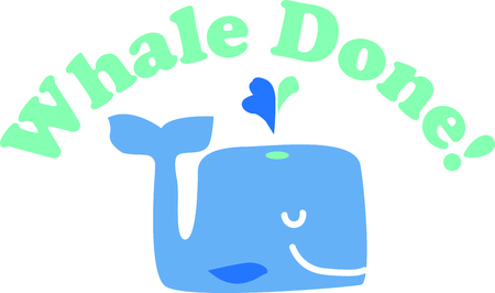 This cute whale will be fun an adorable toddlers shirt or even a bath robe. Illustration
