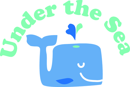This cute whale will be fun an adorable toddlers shirt or even a bath robe. Ilustrace
