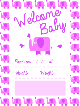 birth announcement: Use this elephant design for a birth announcement on a baby blanket.