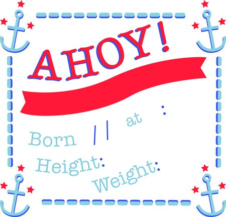 Use this anchor design on a baby blanket for a new born.