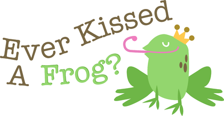 amphibian: Use this handsome frog for a fun fairy tale shirt.