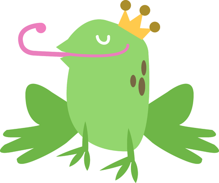 amphibians: Use this handsome frog for a fun fairy tale shirt.