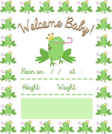 このハンサムなカエルを使用して、楽しいおとぎ話の生まれたばかりの赤ちゃんの毛布。