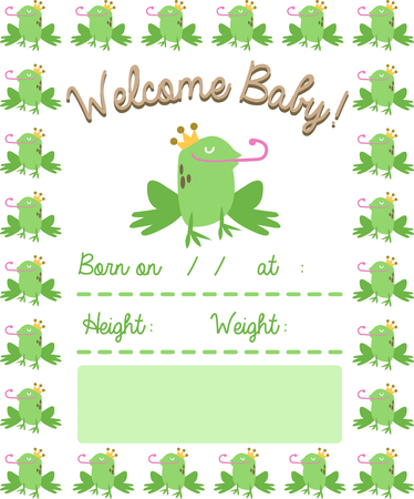 pucker: Use this handsome frog for a fun fairy tale new born baby blanket.