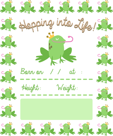 Use this handsome frog for a fun fairy tale new born baby blanket.
