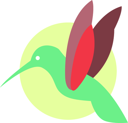 sweety: Use this humming bird on a wallet or purse. Illustration