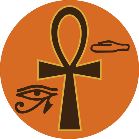 egyptian culture: Use this Egyptian Ankh on a wallet or purse.