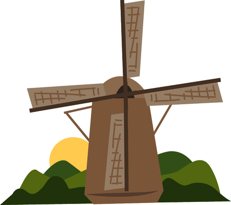 A windmill is the perfect scene for a travel project.