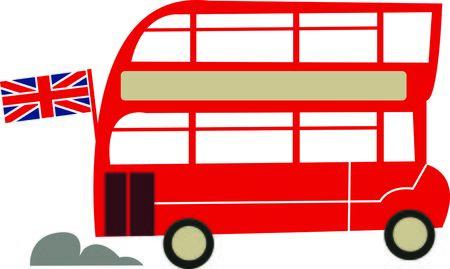 A Londres autobús de dos pisos es el diseño perfecto para sus proyectos de viaje. Foto de archivo - 44920537