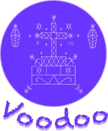 Use this voodoo veve for a Baron Samedi or Gede family fan.