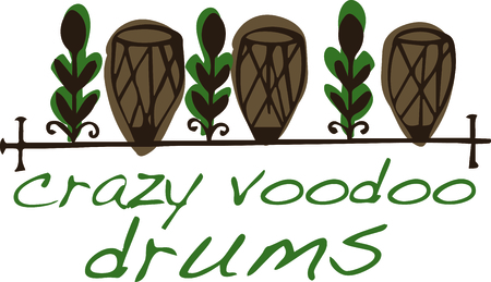 Use these religious voodoo drums for your favorite New Orleans drummer. Reklamní fotografie - 45556700