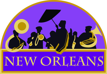 Use these French Quarter band for your favorite jazz musician.