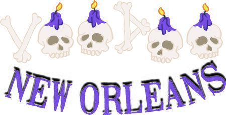 voodoo: Use this voodoo skull text for a New Orleans lover.