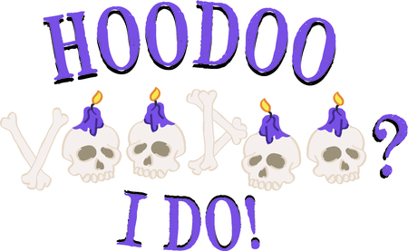 new orleans: Use this voodoo skull text for a New Orleans lover.