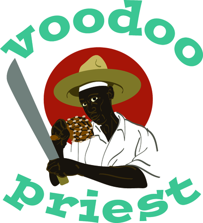 depiction: Celebrate the movie Voodoo Dawn with this depiction of Priest Makoute.