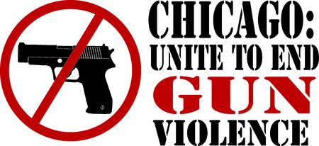 この設計で組み立てられた刺繍、衣料品、銃による暴力を終了するメッセージを広める!
