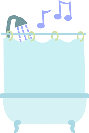 Set a welcoming tone in your  bath with this whimsical design on bath mats, shower curtains and more!