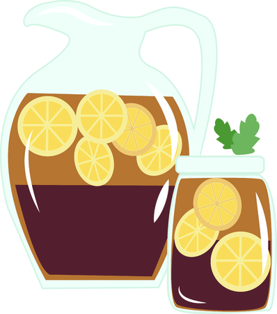 It's not summer until there's a pitcher of sweet tea in the fridge.  This colorful design will be cool and quenching on cozies, kitchen towels and more.