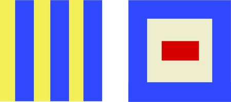 nautical flags: A perfect design for your sailor, boater or lover of all things nautical embroider on clothes, towels, banners, flags or wall hangings.