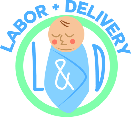 baby delivery: Honor your healthcare personnel with this design on t-shirts, lab coats, shirts, jackets and more.