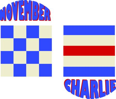 charlie: A perfect design for your sailor, boater or lover of all things nautical embroider on clothes, towels, banners, flags or wall hangings.