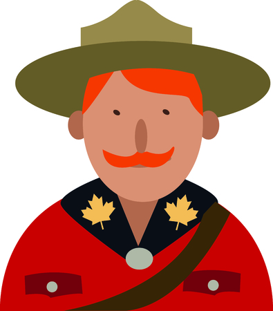 mountie: Show pride in your favorite country and make a great keepsake with this design on t-shirts, jackets, sweatshirts, hats and more!