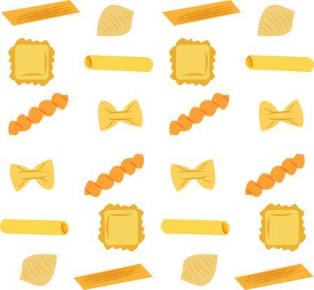 Pasta est le fondement de prédilection pour un repas de famille. Obtenez cette conception délicieuse sur des serviettes, tabliers, et des chemises pour le cadeau parfait. Banque d'images - 46348842