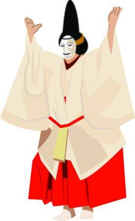 noh: Get this Japanese actor design on wall hangings, cushions, garments, quilts and lots more and add a cultural flavor to your projects!