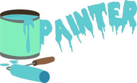 paint can: A great design on carryalls, sweatshirts, jacket backs, quilts, wall hangings, and anywhere else you can think of to recognize your favorite handyman!