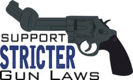 gun control: Display your responsibility to spread the word about safety, with pride, with this design on bags, banners, t-shirts and more.