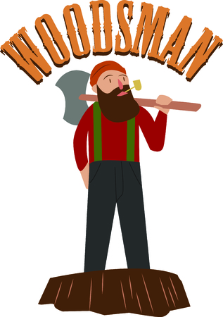 woodsman: Create some woodsy, rugged fun for your urban lumberjack with this design on your next project!