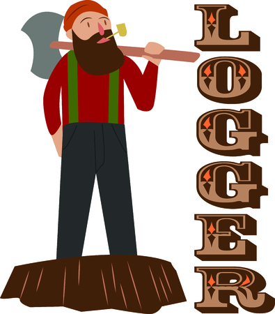 Create some woodsy, rugged fun for your urban lumberjack with this design on your next project!