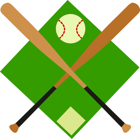 Catch the Baseball fever!  Every strike brings you closer to the next home run with this design on t-shirts, hoodies, sweatshirts and jackets for your team! Ilustração