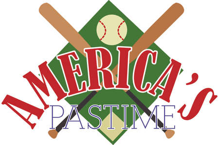 americas: Catch the Baseball fever!  Every strike brings you closer to the next home run with this design on t-shirts, hoodies, sweatshirts and jackets for your team! Illustration