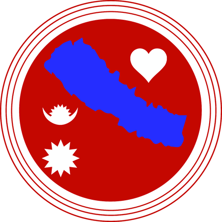 This is a great design on banners, framed embroidery and gifts for fund raisers to launch an appeal to provide food, shelter and emergency supplies for the flood victims of Nepal! Ilustração