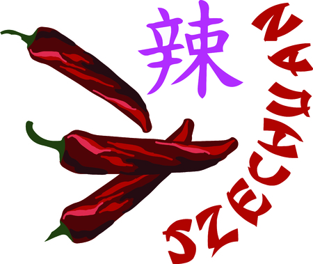 red jalapeno: Add an oriental flavor with this wonder of the Chinese kitchen on your kitchen towels, napkins, tablecloth and more!