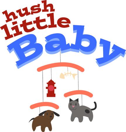 このデザインであなたの子供の寝室の装飾、衣類などに、赤ちゃんのプロジェクトで創造的な取得!  イラスト・ベクター素材