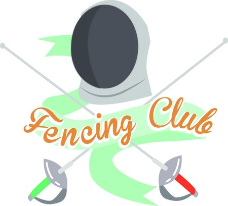 Looking for the perfect Birthday or Christmas gift Embroider this design on clothes, towels, pillows, gym bags, quilts, t-shirts, jackets or wall hangings for your fencing enthusiasts.