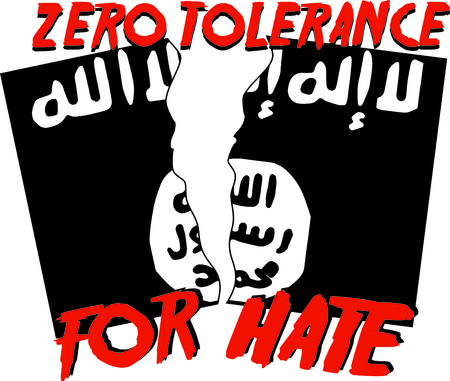 militant: Display your responsibility to spread the word to stand against extremism, with pride, with this design on bags, banners, t-shirts and more.