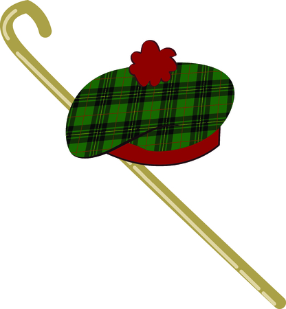 Celebrate Scotland and your Scottish heritage with this design on your holiday projects.