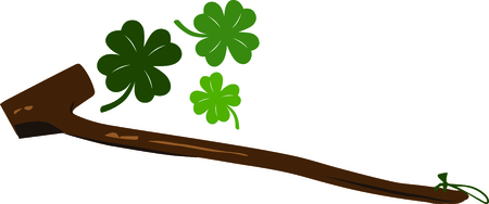 a cudgel: Celebrate Ireland and your Irish heritage with this great Saint Paddys Day design on your holiday projects.