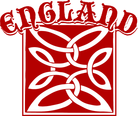 For all those of Anglo-Saxon heritage, this embroidery design is a way of showing pride in the English heritage. Ilustrace