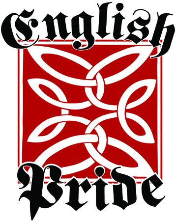 アングロサクソン文化遺産のすべてのも、この刺繍デザインは英国の相続財産の自尊心を示す方法です。  イラスト・ベクター素材