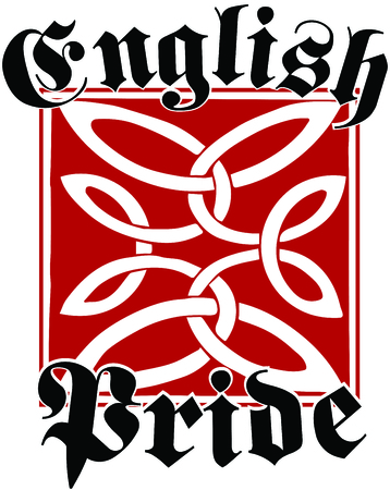 For all those of Anglo-Saxon heritage, this embroidery design is a way of showing pride in the English heritage. Vettoriali
