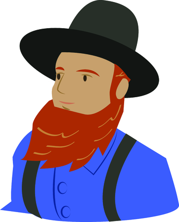 amish: For all those of Amish heritage, this  embroidery design is a way of showing pride in the Amish heritage.