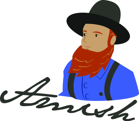 For all those of Amish heritage, this  embroidery design is a way of showing pride in the Amish heritage.