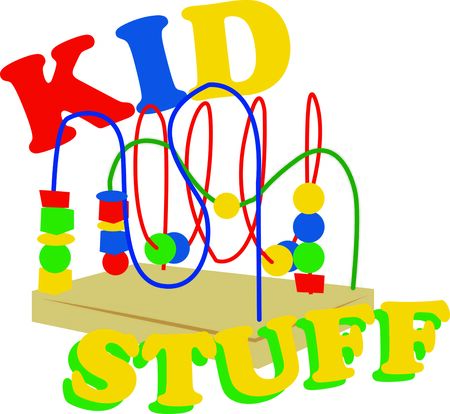 Bead toys offer kids a foundation for learning.  Add style with this design on nursery furniture and decor.