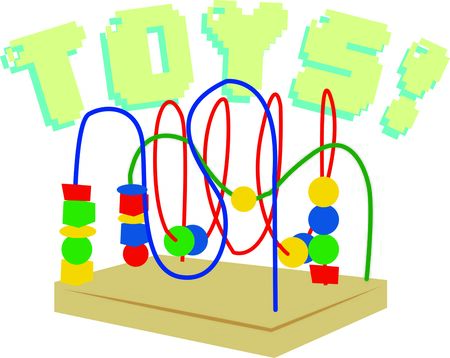 bead: Bead toys offer kids a foundation for learning.  Add style with this design on nursery furniture and decor.