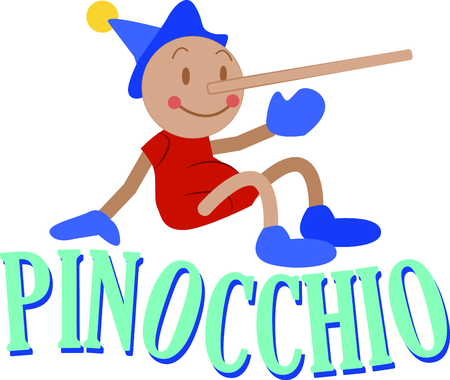 pinocchio: Traditional fairy tales stand the test of time. Get this popular character on your childs bedroom decor and other projects.
